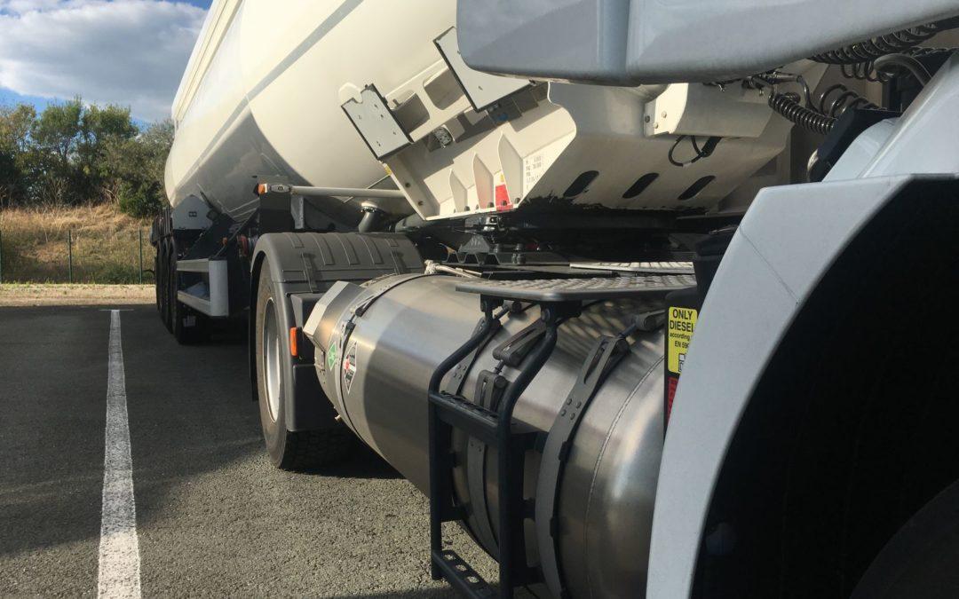 The fleet of gas trucks of Groupe Hautier